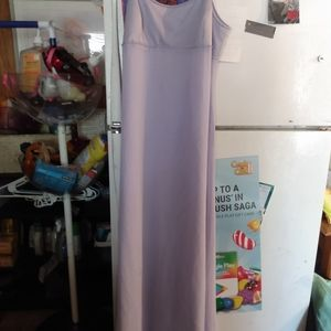 Lavender and Andrianna papell dress